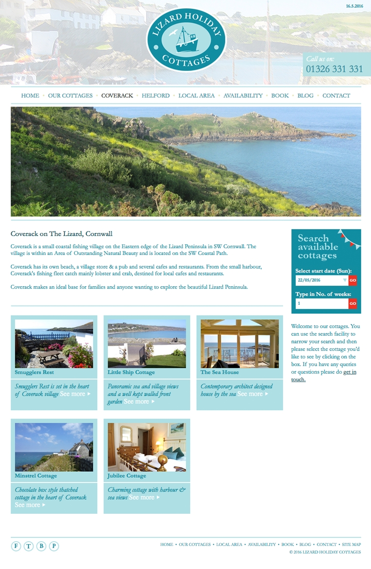 Lizard Holiday Cottages self catering in Coverack