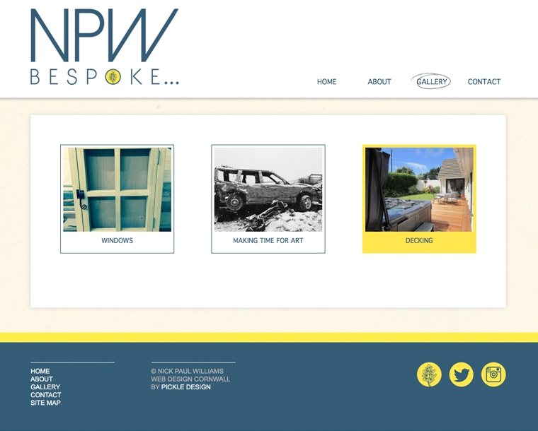 Website design for NPW Bespoke