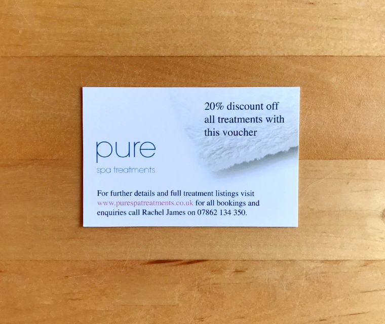 Pure Spa Business Card