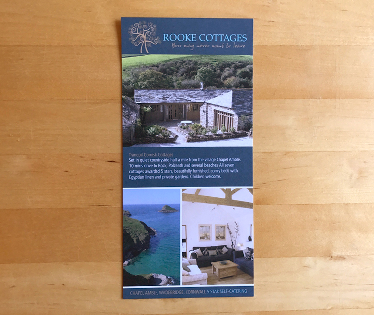 Rooke Cottages self-catering leaflet