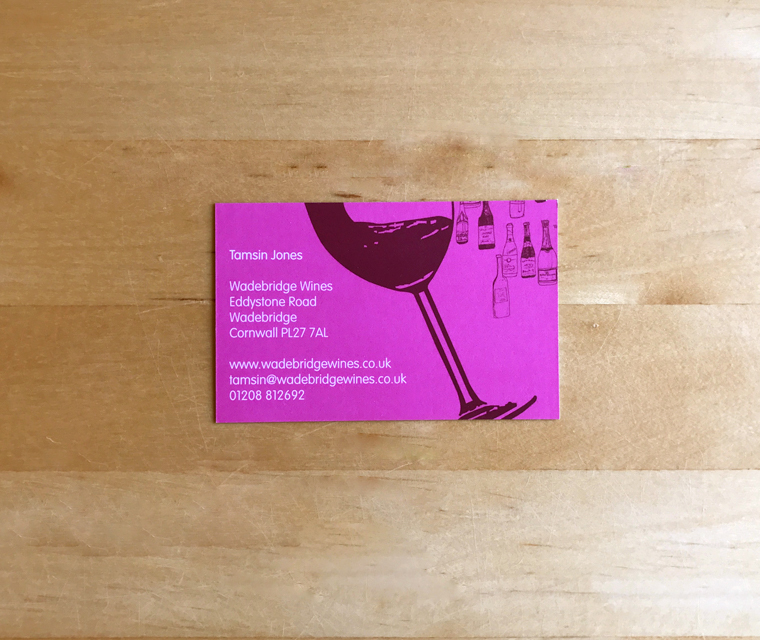 Wadebridge Wines business card
