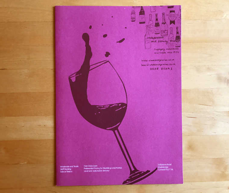 Wadebridge Wines Folder
