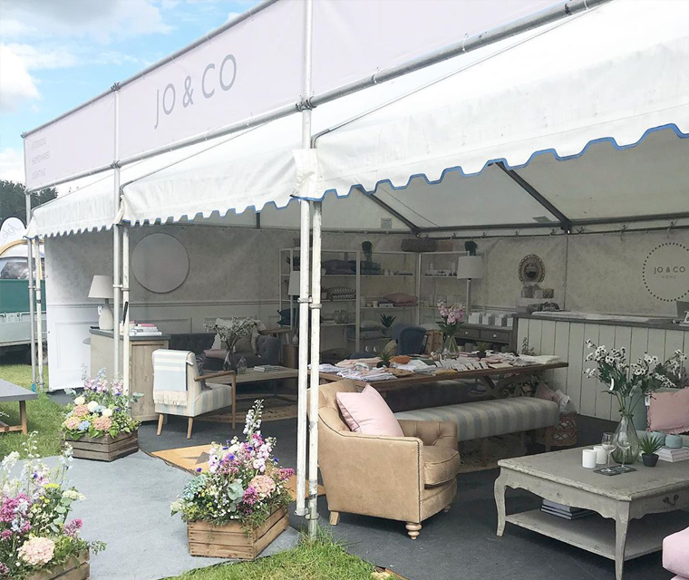 The banners we produced for the Royal Cornwall Show at the Jo&Co Home stand