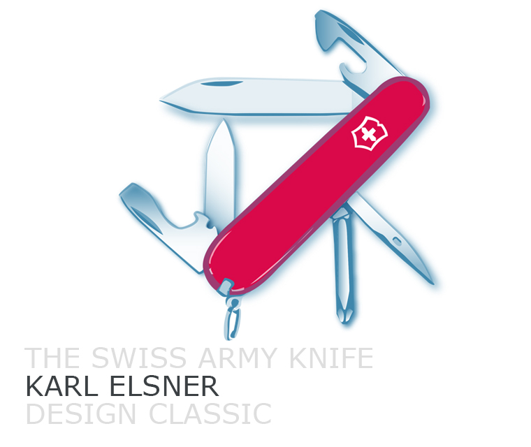 The Swiss Army knife design classic illustrated by Pickle Design