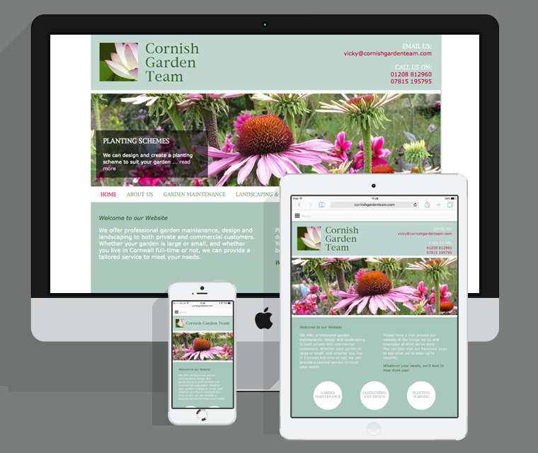 Cornish Garden Team mobile friendly website