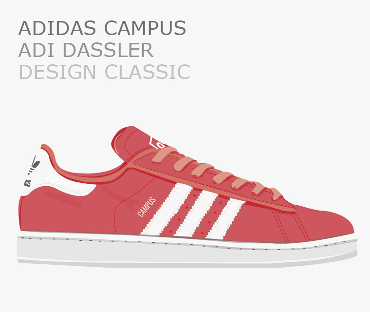 adidas campus illustrated by pickle design for our design classic feature in september's newsletter