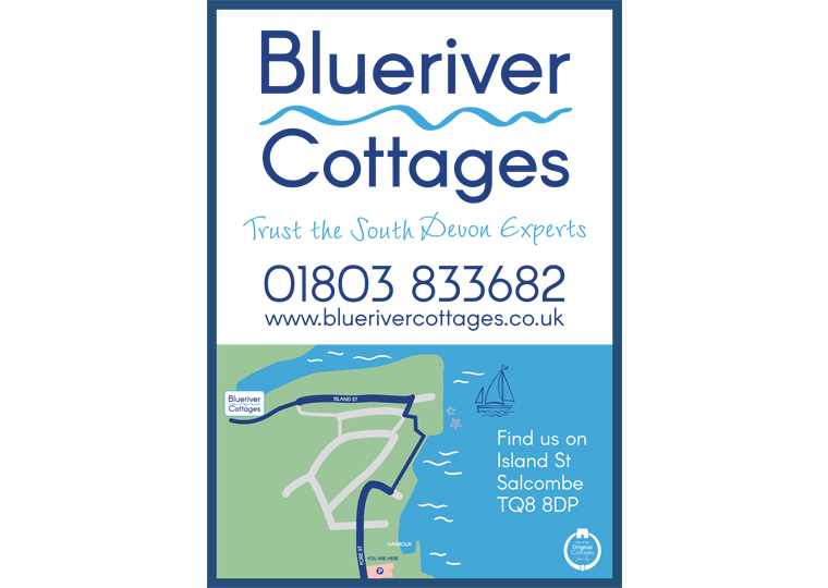 Signage for Blueriver Cottages