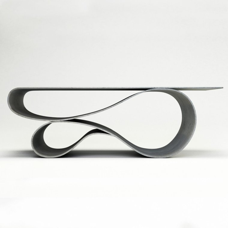 Elegant concrete canvas table by Neal Aronowitz