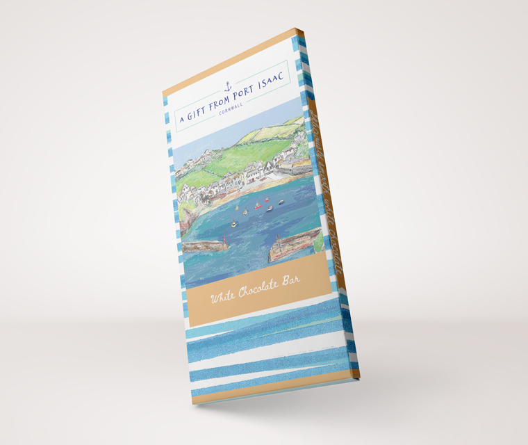 Chocolate bar packaging for Harbour Treats in Port Isaac