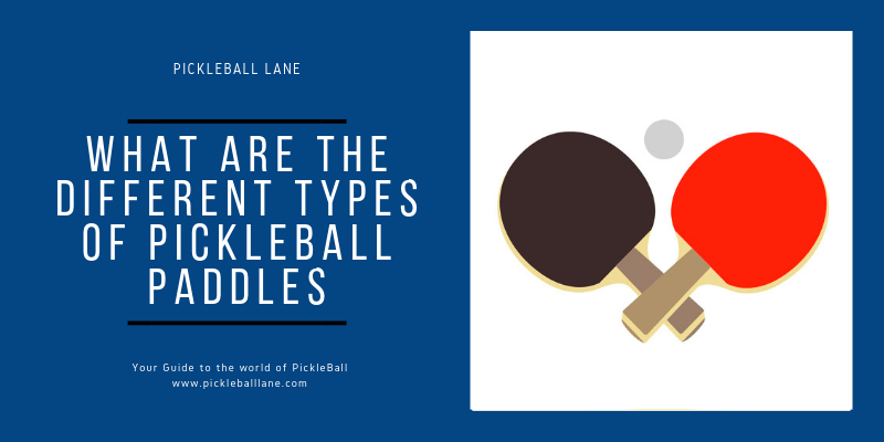 What are the different types of Pickleball Paddles?