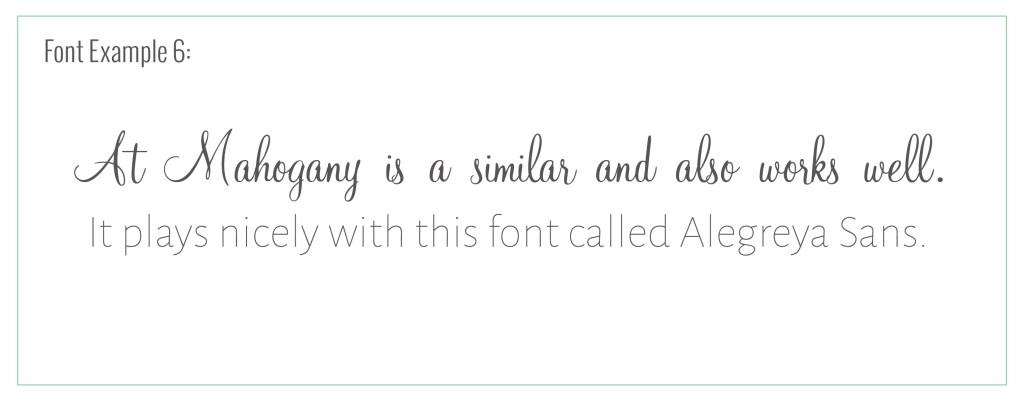 at mahogany script font