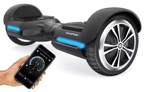 Swagtron Vibe T580 App-Enabled Bluetooth Swagboard Hoverboard w/Speaker