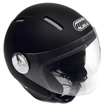 Motorcycle Scooter PILOT DOT Open Face Helmet