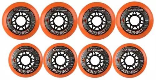 LABEDA-WHEELS-Roller-Hockey-GRIPPER-ASPHALT-HILO-4-76mm-Wheels-4-80mm-Wheels
