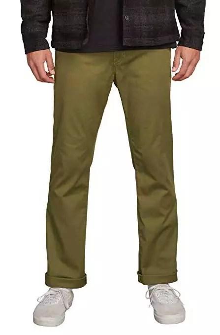 Volcom Men's Frickim Modern-Fit Stretch Chino Pant