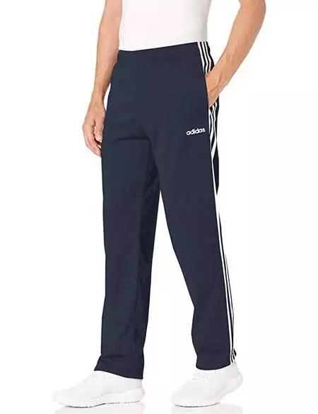 Addidas Men's Essentials 3-Stripes Open Hem Tricot Pant