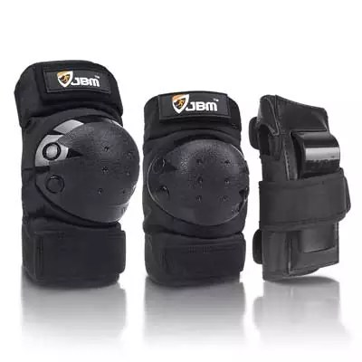 JBM 3 Pack (Knee Pads, Elbow Pads, Wrist Guards)