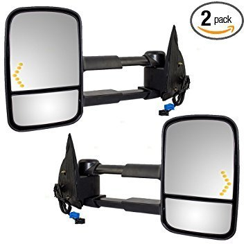 Power telescoping mirrors
