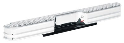 Fey 76000 DiamondStep Universal Chrome Replacement Rear Bumper