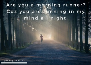 runners pick up lines