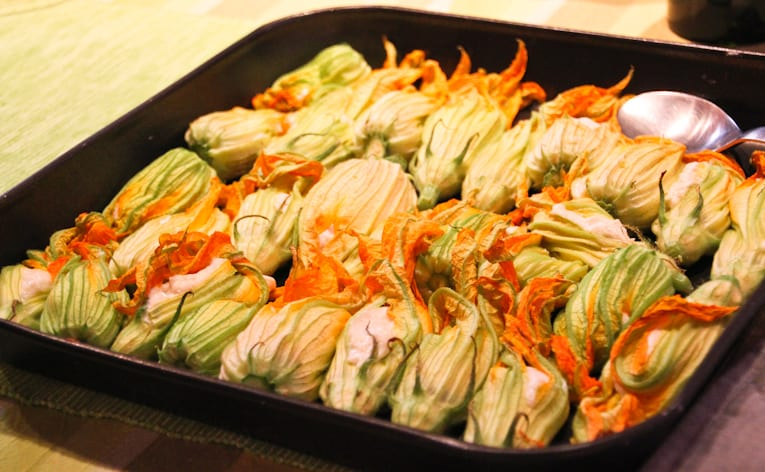 baked zucchini flowers recipe