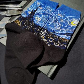 Painting Art Socks - Starry Night - Van Gogh Famous Classy Fun Novelty Unisex