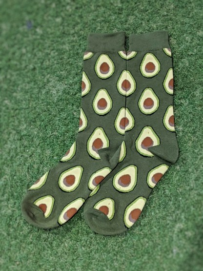 Be the one to stand out in the crowd with these fun Guacamole Avocado socks.