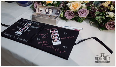 Photo guestbook and pens