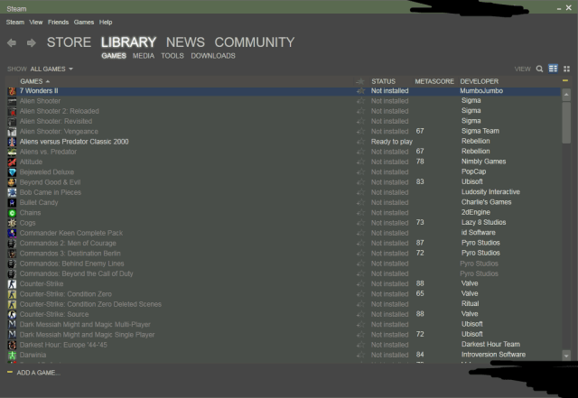 reinstall steam how to find games