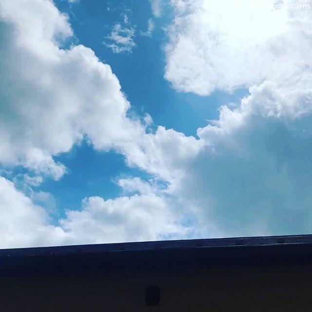台風の影響で風が強く雲の動きも早かった!