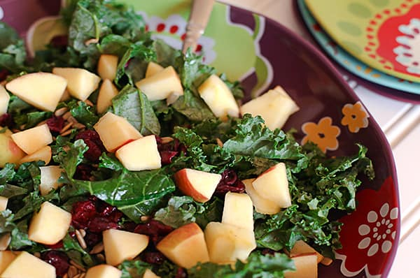 Cranberry Apple Kale Salad