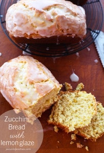 zucchini bread with lemon glaze