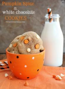 pumpkin spice and white chocolate cookies