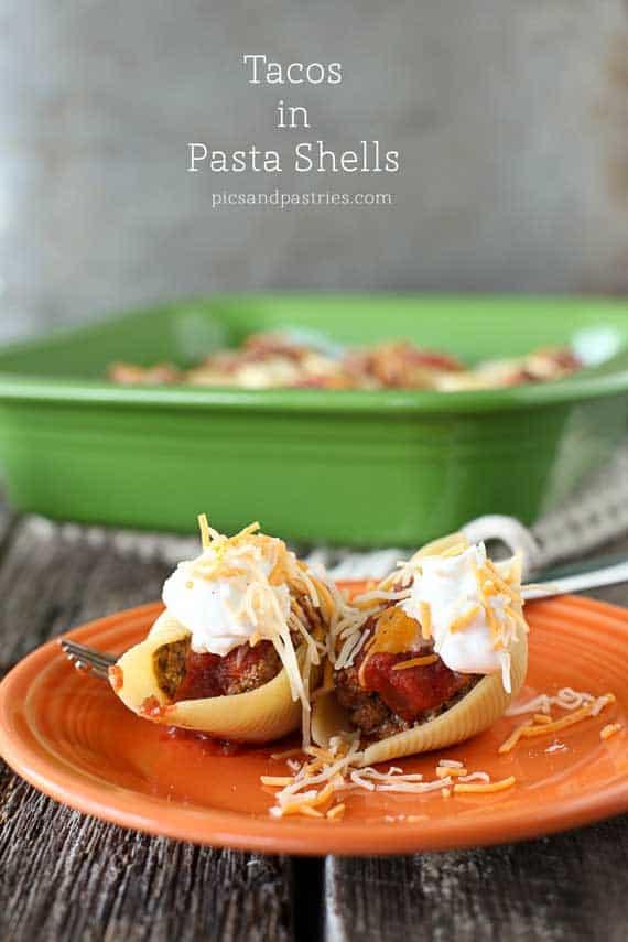 tacos in pasta shells