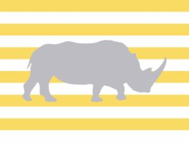picture relating to Rhino Printable titled Rhino Nursery Artwork Printable - Shots and Pastries