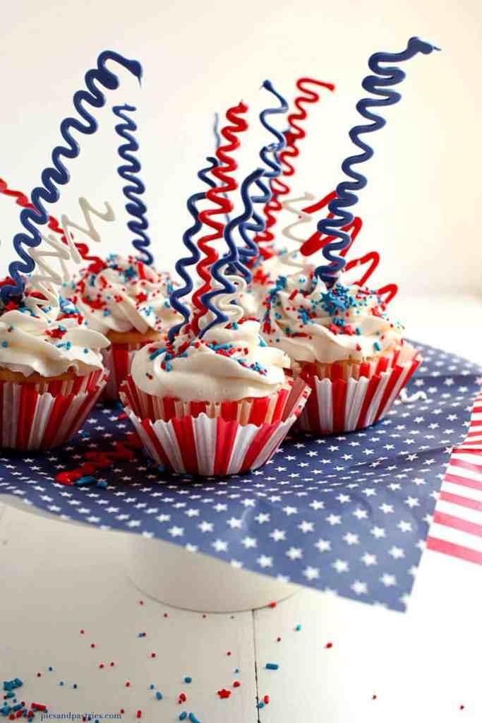 sparkler cupcakes