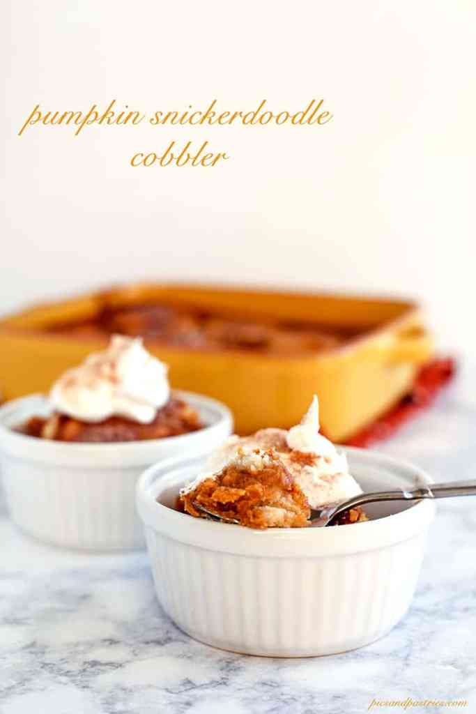 recipe for pumpkin snickerdoodle cobbler