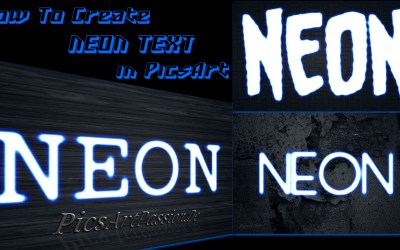 How To Make Neon Text Effect In PicsArt