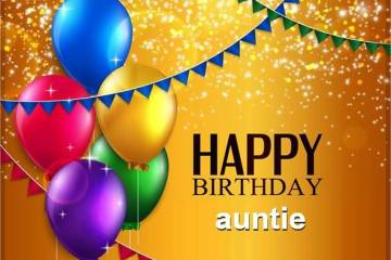 Auntie Birthday Greetings