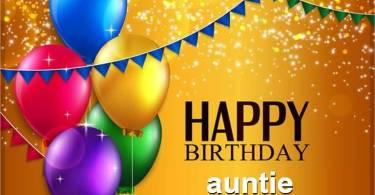 Auntie Birthday Greetings