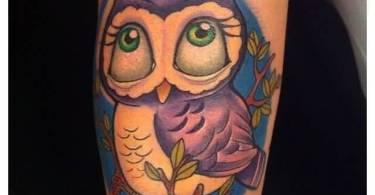 Animated Owl Tattoo