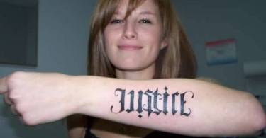 Ambigram Word Tattoo
