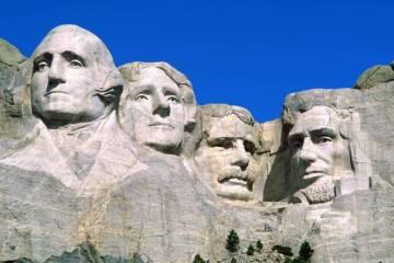 Cute Presidential Portraits Mount Rushmore National Monument South Dakota 4K Wallpaper