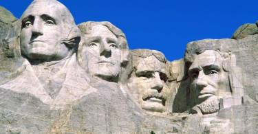 Cute Presidential Portraits Mount Rushmore National Monument South Dakota 4K Wallpaper