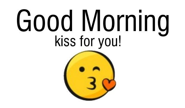Good Morning Kiss For You Wishes Image