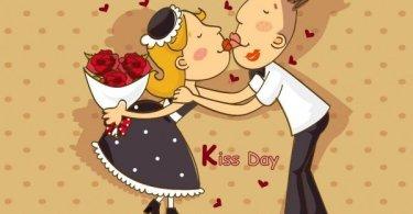 Happy Kiss GReeting Image