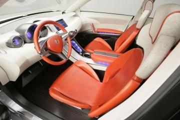 Inner seat view of beautifull silver Acura RDX Concept Car