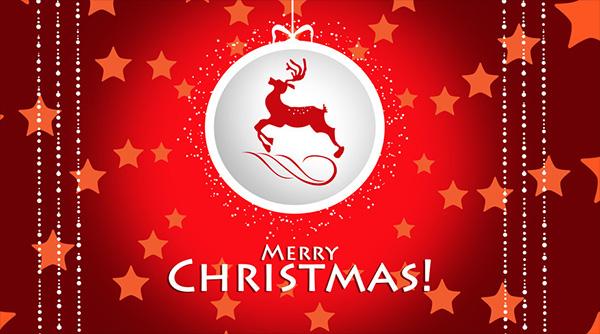 Santa's Raindeer Wishes Merry Christmas Image