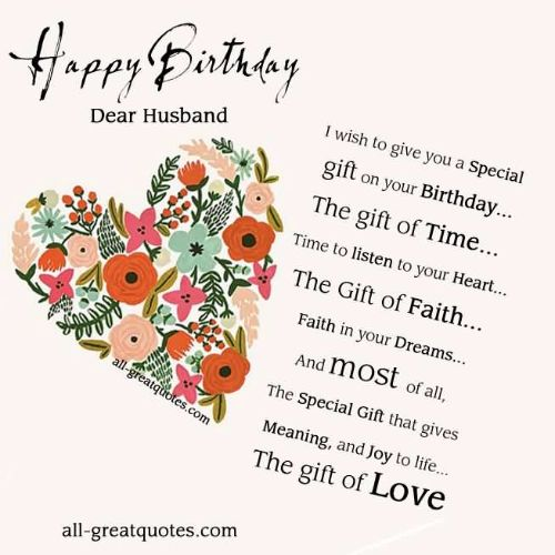Wishing You A Very Happy Birthday Dear Husband Wishes