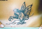 Inspiring Sitting Fairy Tattoo Picture For Girls
